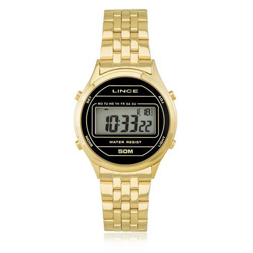 1ab1be7dd3d Relógio Feminino Lince Digital SDPH021L BXKX Dourado