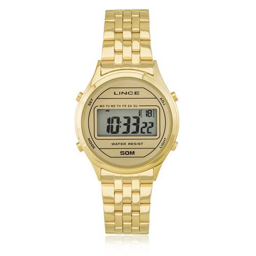 82e9be1f8b1 Relógio Feminino Lince Digital SDPH020L BXKX Dourado