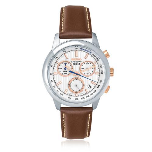 3344b05019f Relógio Masculino Seiko Chronograph Analógico SSB211B1 B1MB Couro Marrom