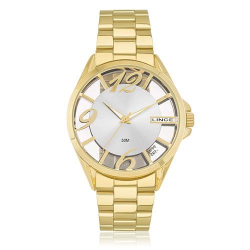 594855c7f64 Relógio Feminino Lince Analógico LRG604L S2KX Dourado
