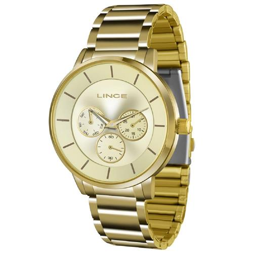 365e39448ac Relógio Feminino Lince Quartz LMGJ054L C1KX Dourado