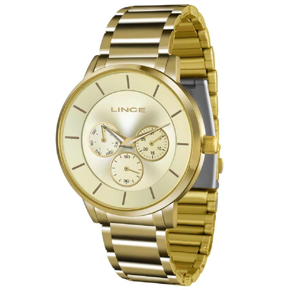 f22afbef7e1 Relógio Feminino Lince Quartz LMGJ054L C1KX Dourado