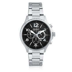 Relógio Masculino Orient Chronograph Quartz MBSSC150 P2SX Aço com fundo Preto