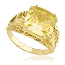 Anel Aramado com Green Gold, em Ouro Amarelo