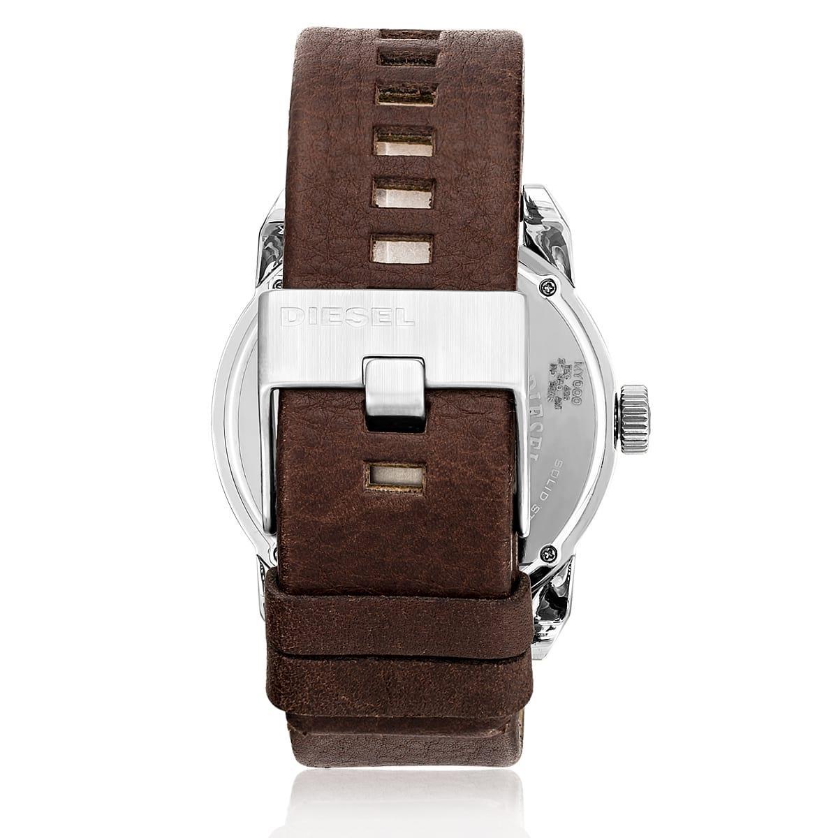 b191d9a460 Relógio Masculino Diesel Analógico IDZ1512 Z Couro Marrom