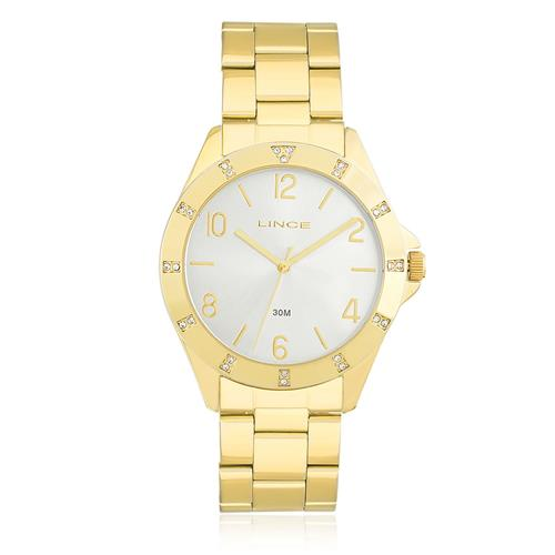 Relógio Feminino Lince Analógico LRG4367L K187 Dourado