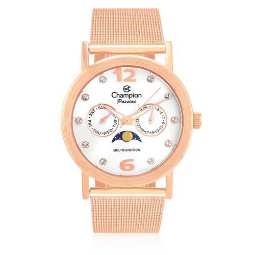 Relógio Feminino Champion Passion Analógico CH38208Z Aço Rose
