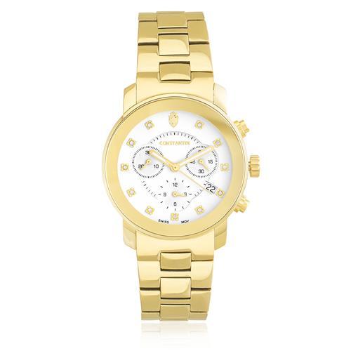 717be62de0d Relógio Feminino Constantim Diamond Gold 6201L-DB Dourado com Diamantes