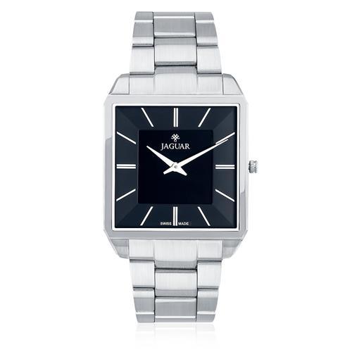 Relógio Masculino Jaguar Analógico J040ASS01 P1SX Aço com fundo preto