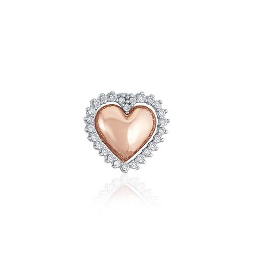 4c91a9f9807d6 Pingente Duplo Corações com 25 Diamantes