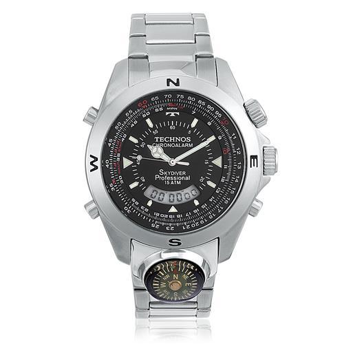 Relógio Masculino Technos SkyDiver T20566 1P Bússola 2258821479