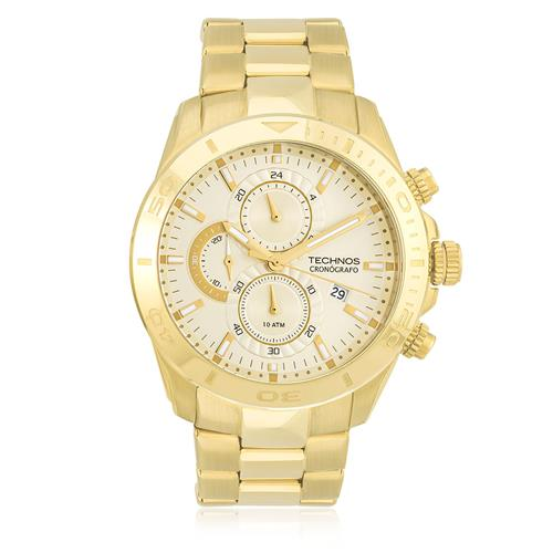 94213e36b57 Relógio Masculino Technos Cronógrafo JS15AL 4X Dourado