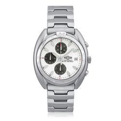 Relógio Magnum Analógico MA30212Q Aço com fundo branco e preto
