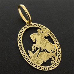 Pingente São Jorge em Ouro Amarelo 9b92454389