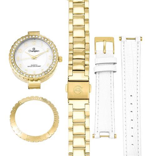 75fa354c4 Relógio Feminino Champion Analógico CN28759H Kit Troca Pulseira