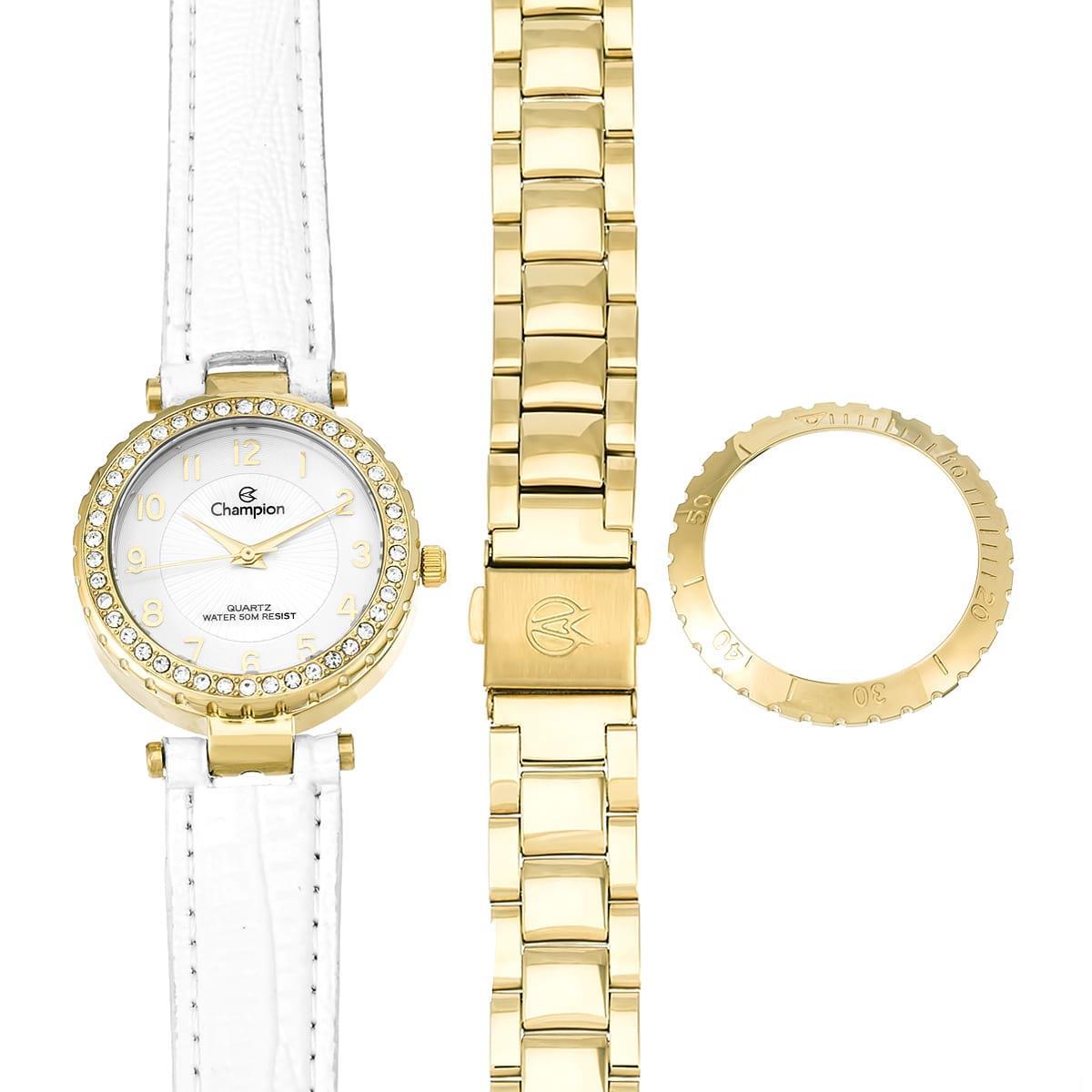 dd9b4a46e76 Relógio Feminino Champion Analógico CN28759H Kit Troca Pulseira