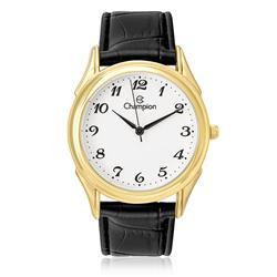 cf114d6a7e7 Relógio Feminino Champion Analógico CH22219M Couro Preto
