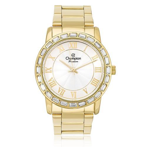 52c5d0869b5 Relógio Feminino Champion Passion Analógico CN28857H Aço Dourado com  cristais