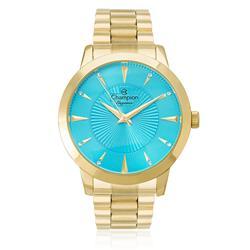 Relógio Feminino Champion Elegance Analógico CN25092F Fundo azul turquesa