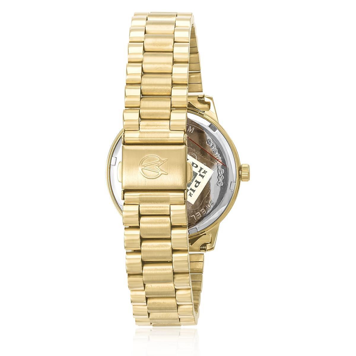 dc909dfa39e Relógio Feminino Champion Elegance Analógico CN25092F Fundo azul turquesa
