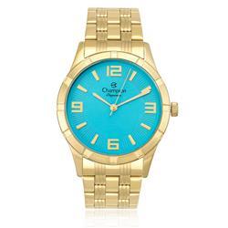 Relógio Feminino Champion Elegance Analógico CN25154F Azul Turquesa