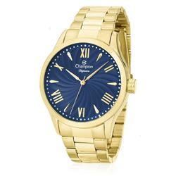Relógio Feminino Champion Elegance Analógico CN27796A Fundo Azul