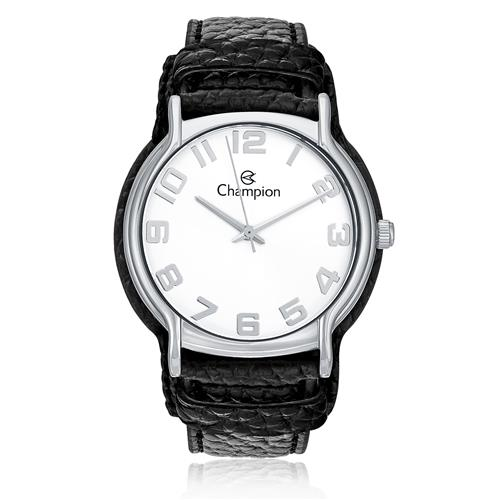 7759d3a572b Relógio Feminino Champion Analógico CN20177Q Couro Preto