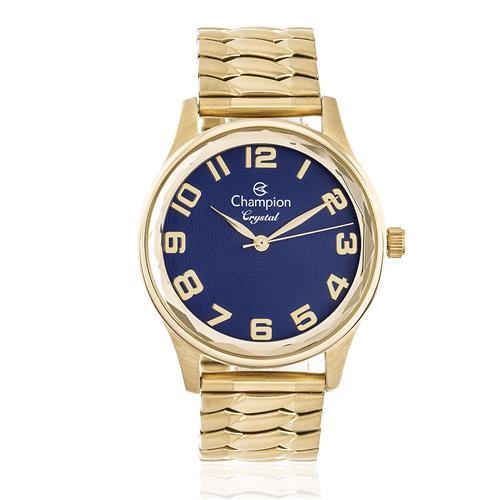 Relógio Feminino Champion Crystal Analógico CN27885K Fundo Azul