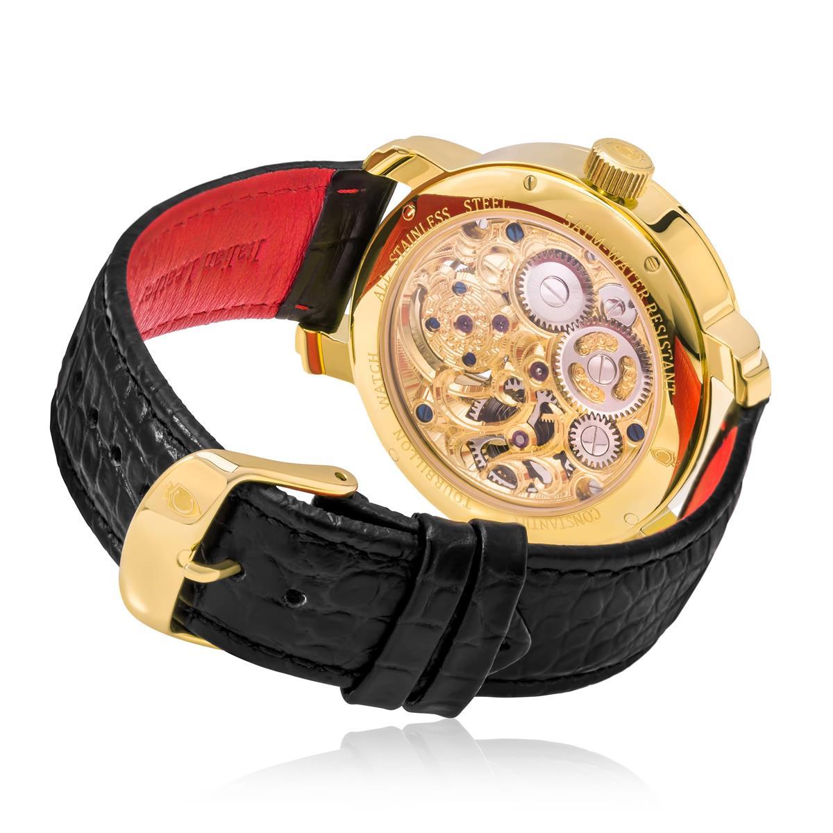 a8278938ff5 Relógio Constantim Tourbillon Gold ZW30161X Dourado com couro preto