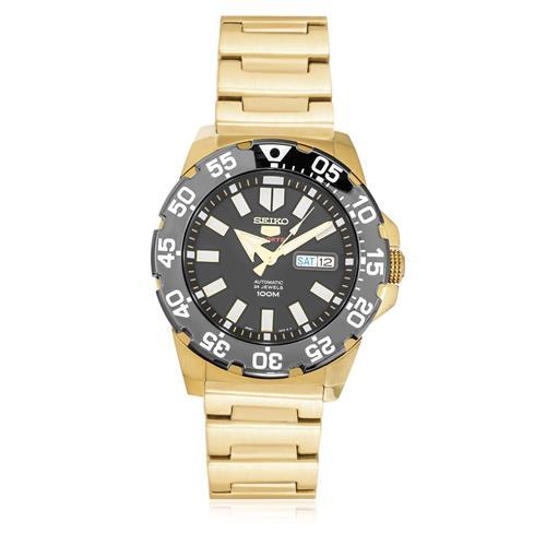 a53c204e007 Relógio Seiko 5 Sport Automatic SRP490B1 P1KX Aço Dourado