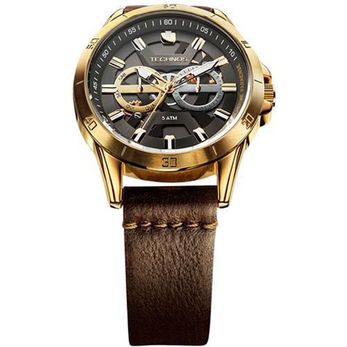 c49f29e3962 Relógio Technos Time de Heróis - Guilherme Paraense 6P75AF 2C Couro Marrom