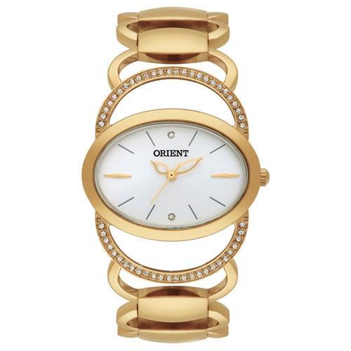 Relógio Feminino Orient Analógico FGSS0045 S1KX Dourado com cristais