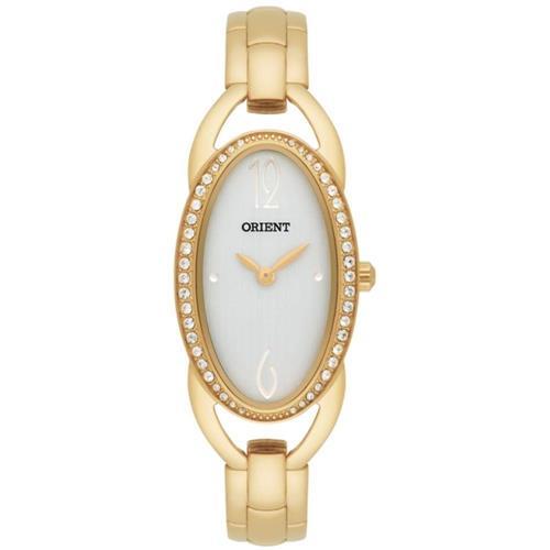 Relógio Feminino Orient Analógico LGSS0048 S2KX Dourado com cristais