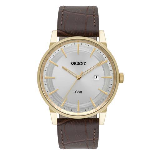Relógio Masculino Orient Analógico MGSC1007 S1NX Couro Marrom