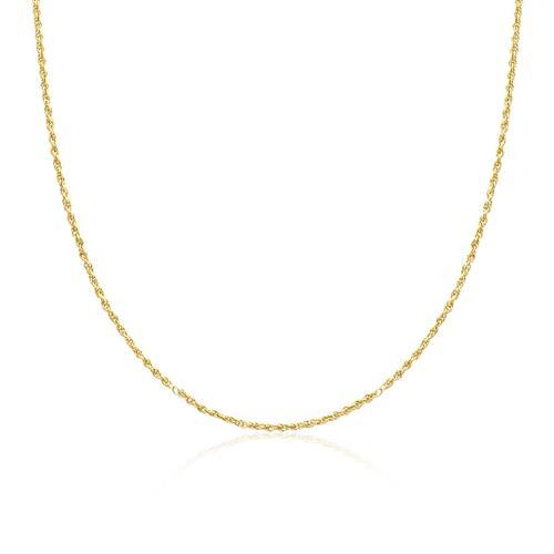 Corrente Feminina Malha Corda com 0,8 grama em Ouro Amarelo