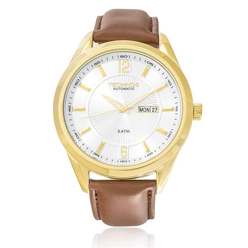 1246d779d9c1c Relógio Masculino Technos Automatic 8205NL 2K Couro Marrom
