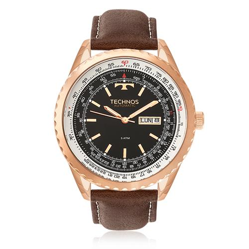 Relógio Masculino Technos Automatic 8205NP/0P Aço Rose