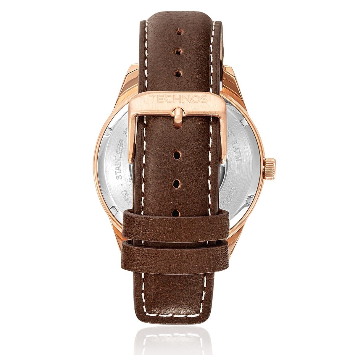 Relógio Masculino Technos Automatic 8205NP 0P Aço Rose   Joias Vip e124b0f805