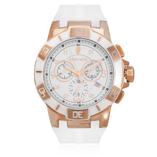 3e7ba3d3c8e Relógio Constantim Pointers PO12-OM Borracha Siliconada Branca 47257