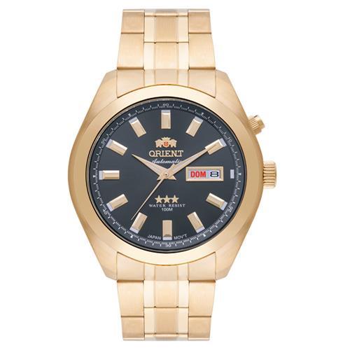 Relógio Masculino Orient Automatic 469GP076 G1KX Dourado fundo grafite