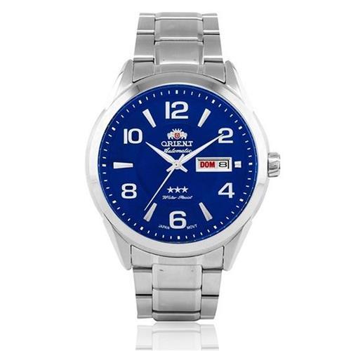 Relógio Masculino Orient Automatic 469SS052 D2SX Fundo Azul