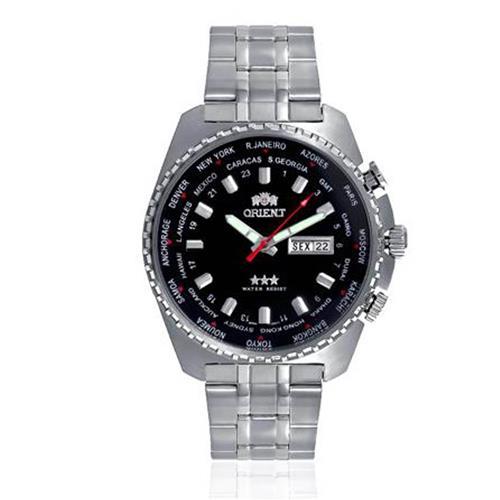 d7b88782ef4 Relógio Masculino Orient Automatic GMT 469SS057 P1SX Fundo Preto