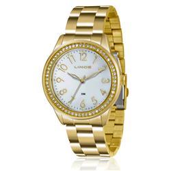 Relógio Feminino Lince Analógico LRG4375L K180B2KX Dourado com cristais