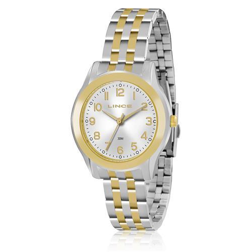 Relógio Feminino Lince Analógico LRT4313L S2SK Aço Misto