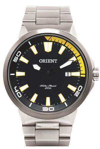 4d6e323b00e Relógio Masculino Orient Analógico MBSS1197A PYSX Fundo Preto e Amarelo