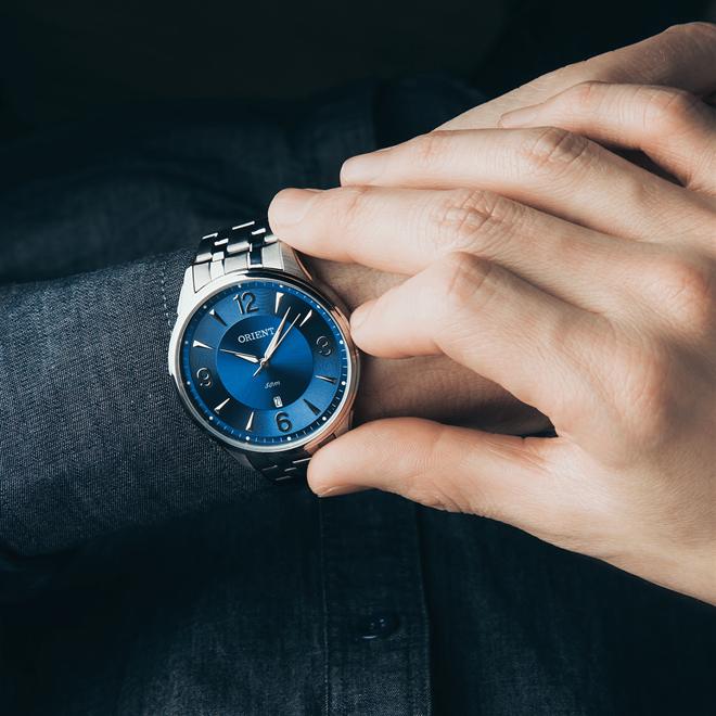 27517a8a69d Relógio Masculino Orient Analógico MBSS1293 D1SX Fundo Azul. Ampliar