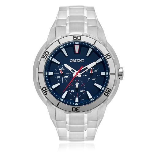 Relógio Masculino Orient Analógico MBSSM077 D1SX Fundo Azul