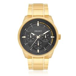 Relógio Masculino Orient Analógico MGSSM026 G1KX Dourado fundo preto