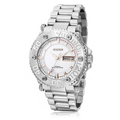 Relógio Masculino Magnum MA32149Q Aço