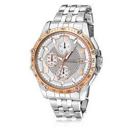 Relógio Masculino Magnum MA32461Z Aço com detalhes em rose